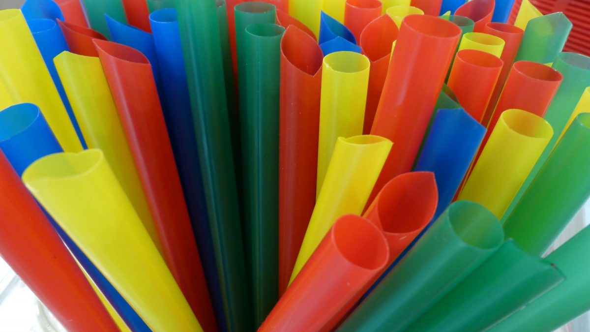a myriad of plastic straws, this shows but a small portion, of a huge problem.